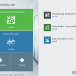 Veeam Avalability Suite v9 - Setup Screen