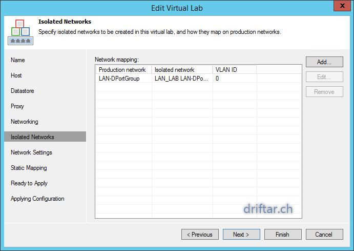Veeam – Automatic backup tests with SureBackup – driftar's Blog