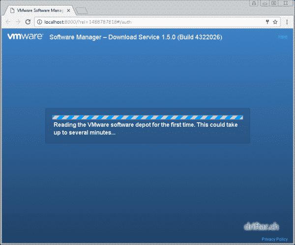 Reading VMware depot