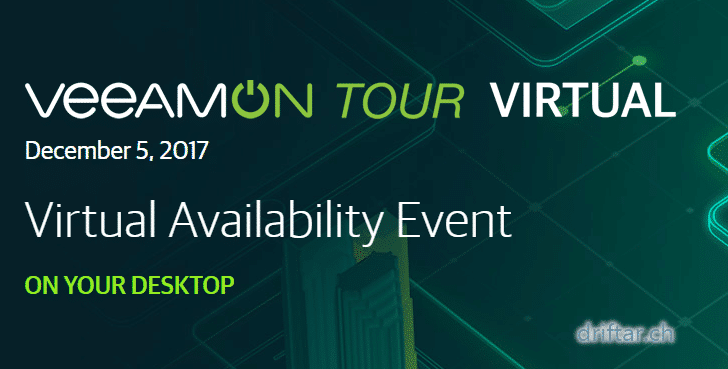 VeeamON Tour Virtual 2017