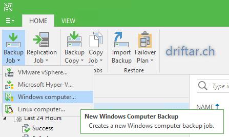 Create Backup Job