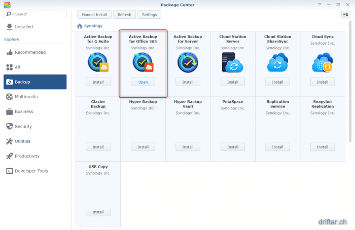 Synology now with backup for Office 365 – driftar's Blog