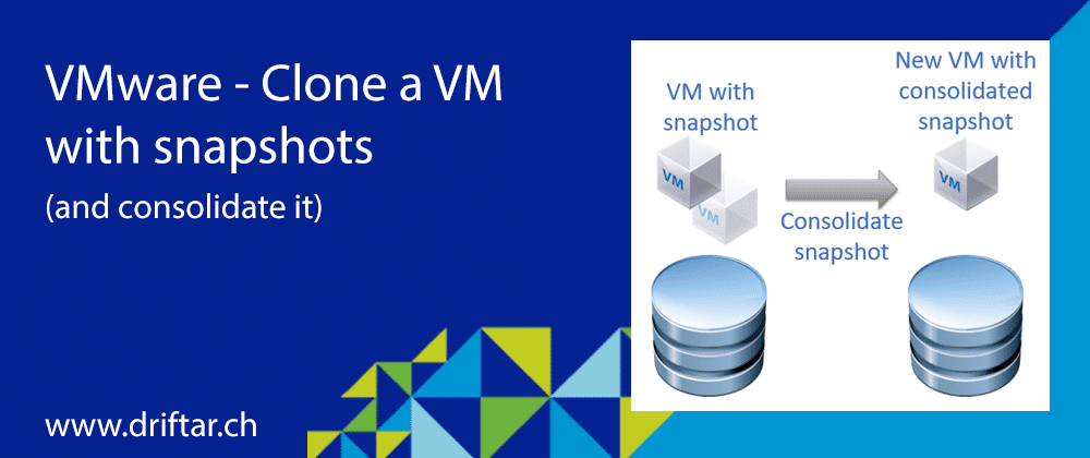 VMware – Clone a VM with snapshots (and consolidate it)