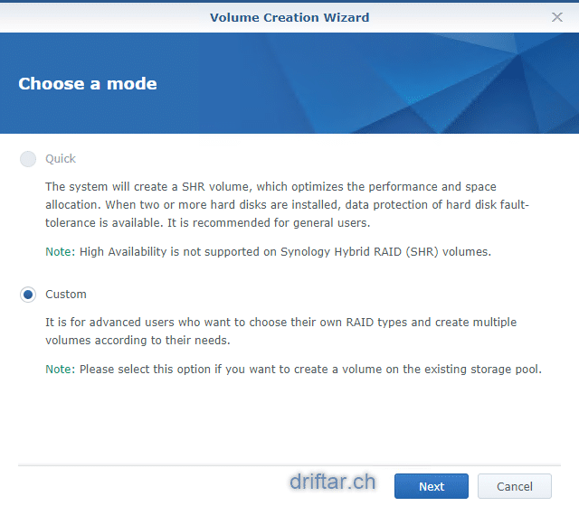 Create VAAI supported iSCSI LUNs on a Synology NAS