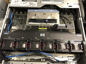 Top view of my ProLiant G7 server