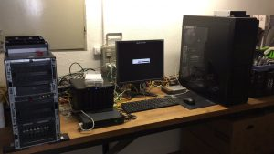 My old game rig booting with the ESXi installer